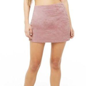 Dresses & Skirts - Faux fur mini skirt (Mauve)